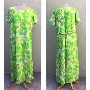 Vintage Green Goddess Long Dress